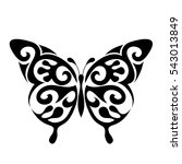 Stock vector graphic icon of butterfly butterfly tattoo isolated on white background vector 543013849