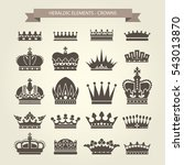 heraldic crowns set   monarchy... | Shutterstock .eps vector #543013870
