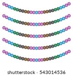 colored beads. garland. white... | Shutterstock .eps vector #543014536
