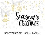 christmas greeting card ... | Shutterstock .eps vector #543016483