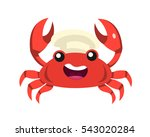 cute sea animal chef logo... | Shutterstock .eps vector #543020284
