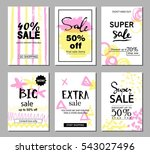 set of social media sale... | Shutterstock .eps vector #543027496