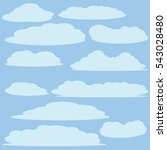 cloud vector   icon background | Shutterstock .eps vector #543028480