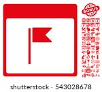flag calendar page icon with... | Shutterstock .eps vector #543028678
