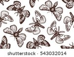 seamless pattern with night... | Shutterstock .eps vector #543032014
