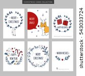 set of christmas and new year... | Shutterstock .eps vector #543033724