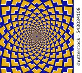 optical motion illusion... | Shutterstock .eps vector #543034108
