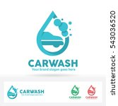 car wash logo  car  shampoo... | Shutterstock .eps vector #543036520