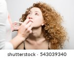 master of make up to apply... | Shutterstock . vector #543039340