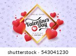 valentines day sale background... | Shutterstock .eps vector #543041230