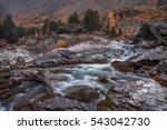 shallow rocky stream long... | Shutterstock . vector #543042730