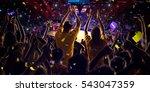 fans on basketball court in... | Shutterstock . vector #543047359