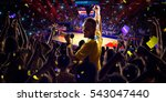 fans on basketball court in... | Shutterstock . vector #543047440