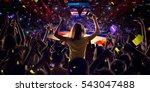 fans on basketball court in... | Shutterstock . vector #543047488