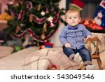 christmas portrait of a young... | Shutterstock . vector #543049546