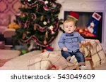 christmas portrait of a young... | Shutterstock . vector #543049609