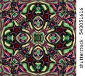 abstract decorative multicolor... | Shutterstock . vector #543051616