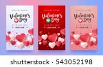 Valentines day sale background with icon set pattern. Vector illustration. Wallpaper, flyers, invitation, posters, brochure, voucher,banners. | Shutterstock vector #543052198