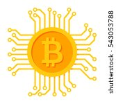 digital money icon for bitcoin  ... | Shutterstock .eps vector #543053788