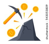 bitcoin mining concept with... | Shutterstock .eps vector #543053809