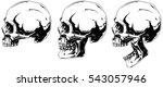 a vector illustration of white... | Shutterstock .eps vector #543057946