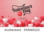 valentines day sale background... | Shutterstock .eps vector #543060223