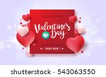 valentines day sale background... | Shutterstock .eps vector #543063550