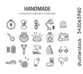 vector hand made icons set  ... | Shutterstock .eps vector #543065980