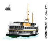 ship istanbul vector | Shutterstock .eps vector #543068194