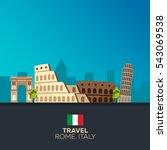 rome. travelling illustration.... | Shutterstock .eps vector #543069538