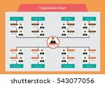 organization chart infographics ...   Shutterstock .eps vector #543077056