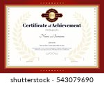 certificate of achievement... | Shutterstock .eps vector #543079690