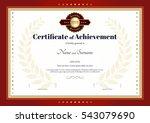 certificate of achievement... | Shutterstock .eps vector #543079690