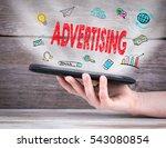 advertising. tablet computer in ... | Shutterstock . vector #543080854