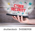 cyber security concept. tablet... | Shutterstock . vector #543080908