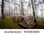 tent camp | Shutterstock . vector #543083800