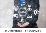 business internet big data... | Shutterstock . vector #543084259