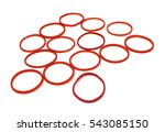 red rubber bands white... | Shutterstock . vector #543085150
