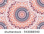 hand drawn mandala seamless... | Shutterstock .eps vector #543088540