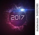 happy new 2017 year. vector... | Shutterstock .eps vector #543092980