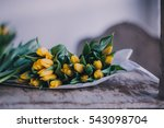 Yellow Tulips Flowers Bouquet...