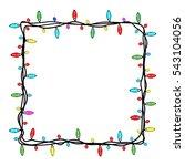 christmas lights frame | Shutterstock .eps vector #543104056