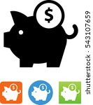 piggy bank savings icon   Shutterstock .eps vector #543107659
