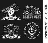 set logo. motorcycle. vector... | Shutterstock .eps vector #543110188