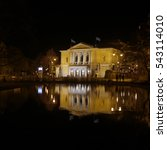 Small photo of Germany, Halle an der Saale Opera house night view