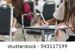 school student's taking exam... | Shutterstock . vector #543117199