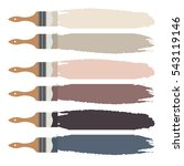 paint brush icon and color... | Shutterstock .eps vector #543119146