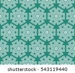 floral geometric lace texture....   Shutterstock .eps vector #543119440