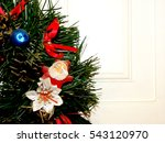 christmas wreath | Shutterstock . vector #543120970