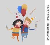 3d illustration. couple in love ... | Shutterstock . vector #543121783